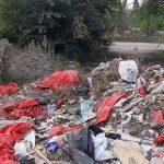 В свалку превратили территорию заброшенного завода в Никополе