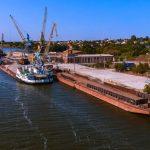 Красоты Никополя: речной порт с высоты птичьего полета